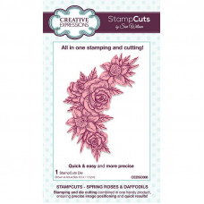 April Collection - StampCuts - Spring Roses and Daffodils