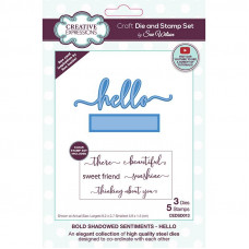 April Collection - Bold Shadowed Sentiments Hello Craft Die & Stamp Set
