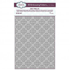 Creative Expressions - 3D Embossing Folder - Geo Trellis