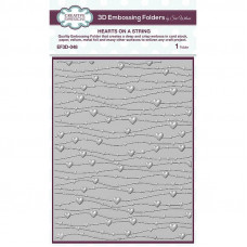 Creative Expressions 3D Embossing Folder - Hearts On A String - DISPATCHING THURSDAY 22nd APRIL