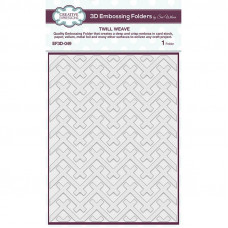 Creative Expressions 3D Embossing Folder - Twill Weave