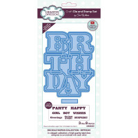 Sue Wilson - Big Bold Words - Birthday - Craft Die & Stamp Set