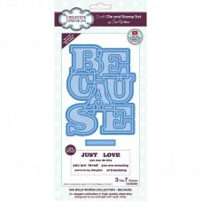Sue Wilson - Big Bold Words - Because - Craft Die & Stamp Set