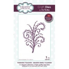 Finishing Touches Collection Beaded Swirl Flourish Die
