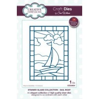 Stained Glass - Sail Boat Die