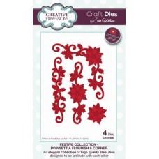 Festive Collection - Poinsettia Flourish & Corner