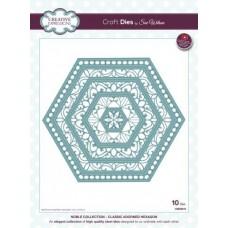 Noble - Classic Adorned Hexagon Die