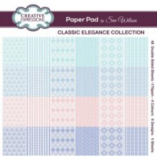 Classic Elegance Collection 8 x 8 Paper Pad by Sue Wilson