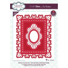 2019 Festive Collection - Ruffled Edge Christmas Frame