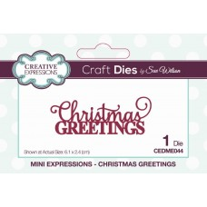 Mini Expressions Collection - Christmas Greetings Craft Die