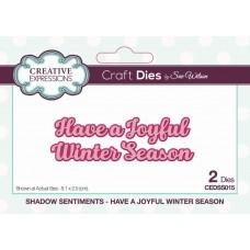 Have a Joyful Winter Season Craft Die