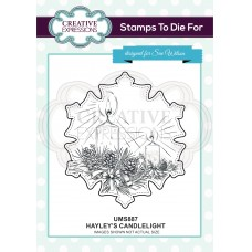 Hayley's Candlelight Pre Cut Stamp - DISPATCHING WEDNESDAY 26th JUNE