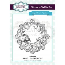 Danielle's Partridge Pre Cut Stamp