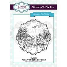 Amelia's Moonlight Deer Pre Cut Stamp