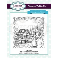 Denise's Snowy Night Pre Cut Stamp