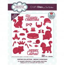 Sue Wilson - Meowy Christmas Craft Die