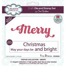 Sue Wilson -   Merry Craft Die & Stamp Set