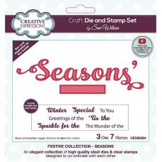 Sue Wilson - Seasons Craft Die & Stamp Set