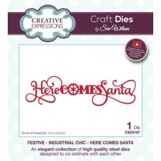 Festive Industrial Chic - Here Comes Santa