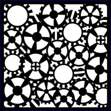 Creative Expressions Stencil Steampunk Gears