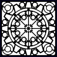 Creative Expressions Stencil Steampunk Clockwork