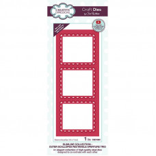 Sue Wilson 2021 Festive Collection - Slimline Outer Scalloped Rectangle Aperture Trio Craft Die