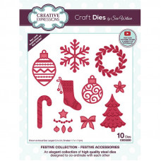 Sue Wilson 2021 Festive Collection - Festive Accessories Craft Die - DISPATCHING TUESDAY 3rd AUGUST