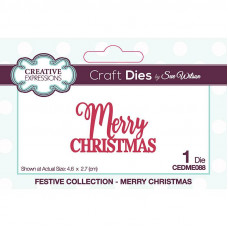 Sue Wilson 2021 Festive Collection - Mini Expressions Merry Christmas Craft Die