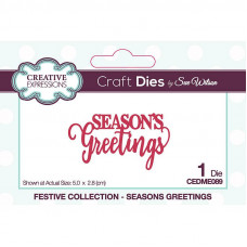 Sue Wilson 2021 Festive Collection - Mini Expressions Seasons Greetings Craft Die