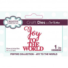 Sue Wilson 2021 Festive Collection - Mini Expressions Joy To The World Craft Die