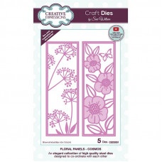 May Collection - Sue Wilson Floral Panels Cosmos Craft Die