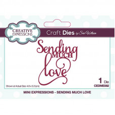 May Collection - Sue Wilson Mini Expressions Sending Much Love Craft Die