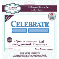 May Collection - Sue Wilson Bold Words Celebrate Craft Die & Stamp Set