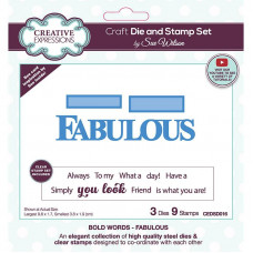 May Collection - Sue Wilson Bold Words Fabulous Craft Die & Stamp Set