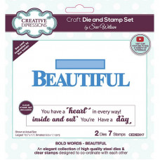 May Collection - Sue Wilson Bold Words Beautiful Craft Die & Stamp Set