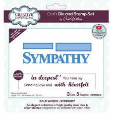 May Collection - Sue Wilson Bold Words Sympathy Craft Die & Stamp Set