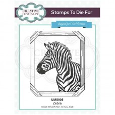 Sue Wilson - Safari Collection - Stamps To Die For - Zebra
