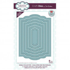 Sue Wilson - Noble Scalloped End Rectangles Craft Die