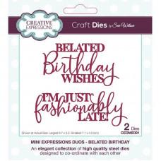 Sue Wilson - Mini Expressions Duos Belated Birthday Craft Die