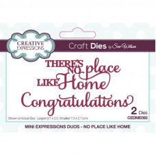 Sue Wilson - Mini Expressions Duos - No Place Like Home Craft Die
