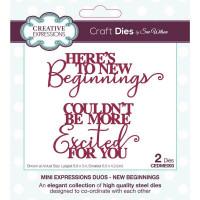 Sue Wilson - Mini Expressions Duos - New Beginnings Craft Die