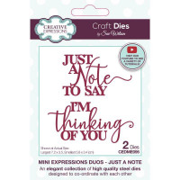 Sue Wilson - Mini Expressions Duos - Just A Note Craft Die