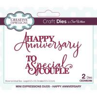Sue Wilson - Mini Expressions Duos - Happy Anniversary Craft Die
