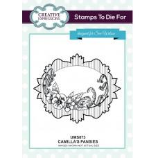 Camilla's Pansies Pre Cut Stamp
