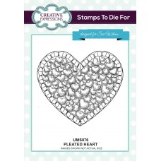 Pleated Heart Pre Cut Stamp