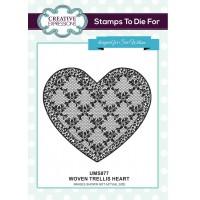 Woven's Trellis Heart Pre Cut Stamp