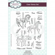 Creative Expressions Sue Wilson - Carousel A5 Clear Stamp Set