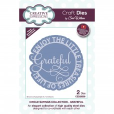 Sue Wilson Autumn Collection - Circle Sayings - Grateful