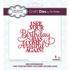 Sue Wilson - Mini Expressions - I See Your Birthday Has Come Around Again