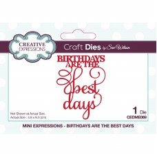 Sue Wilson - Mini Expressions - Birthdays Are The Best Days